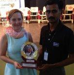 General Manager - Alina Posłuszny with Mother Theresa Award